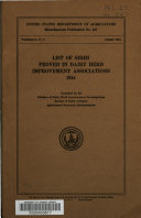 List of Sires Proved in Dairy Herd Improvement Associations  1944