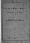 The law of kosmic order