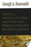 Extrema of Nonlocal Functionals and Boundary Value Problems for Functional Differential Equations