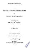 Of the Medical and Prophylactic Treatment of Stone and Gravel Book PDF