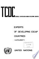 Experts of Developing ESCAP Countries