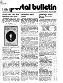 The Postal Bulletin