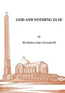 God and Nothing Else Book PDF