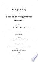 Tagebuch der Anfälle in Afghanistan 1841-1842