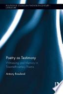 Poetry as Testimony