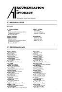 Argumentation and Advocacy Book PDF
