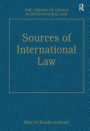 Pdf Sources of International Law