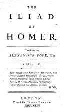 The Iliad of Homer  Translated by Alexander Pope  Esq   Vol  1     6