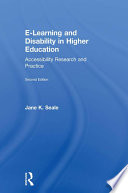 E learning and Disability in Higher Education