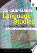 Corpus-based Language Studies