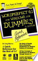 WordPerfect 6.1 for Windows for Dummies