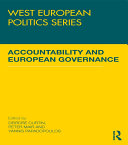 Accountability and European Governance