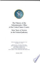 The History of the Administrative Office of the United States Courts Book PDF