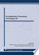 Eco Materials Processing and Design XII