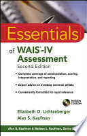 Essentials Of Wais Iv Assessment Book PDF