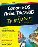 Canon EOS Rebel T6i / 750D For Dummies Pdf/ePub eBook