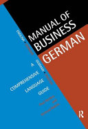 Manual of Business German