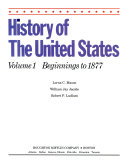 History Of The U S Vol 1