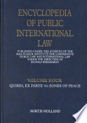 Encyclopedia of Public International Law