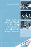 Progress Toward A Literate World