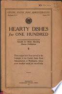 Hearty dishes for one hundred : suitable for hotels, boarding houses, institutions