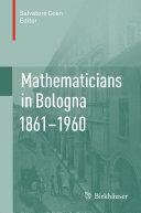 Mathematicians in Bologna 1861–1960 Pdf/ePub eBook