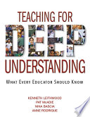 Teaching for Deep Understanding