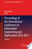 Proceedings of the International Conference on Information Engineering and Applications  IEA  2012