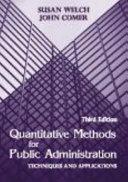 Quantitative Methods For Public Administration