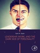 Leadership, Work, and the Dark Side of Personality Pdf/ePub eBook
