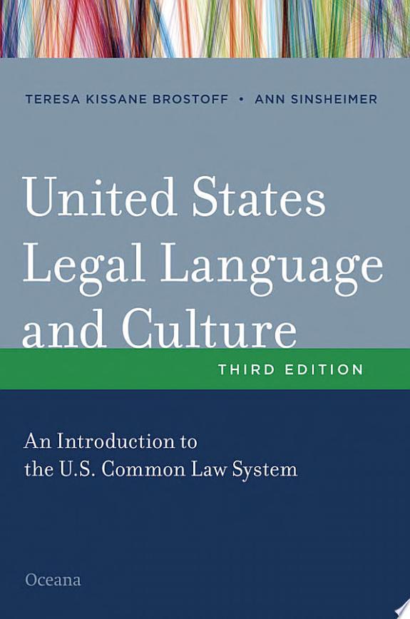 United States Legal Language and Cu