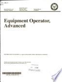 Equipment Operator, Advanced