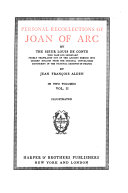 The Writings of Mark Twain  Personal recollections of Joan of Arc  by the Sieur Louis de Comte  pseud