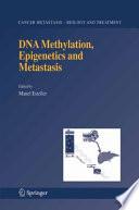 Dna Methylation Epigenetics And Metastasis Book PDF