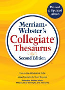 Merriam Webster s Collegiate Thesaurus Book