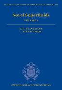 Pdf Novel Superfluids