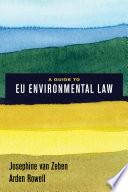 A Guide to EU Environmental Law Book
