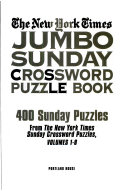 NY Times Jumbo Crossword Puzzle Book