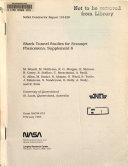 Shock Tunnel Studies of Scramjet Phenomena, Supplement 6