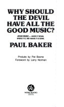 Why Should The Devil Have All The Good Music  Book PDF