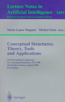 Conceptual Structures  Theory  Tools and Applications