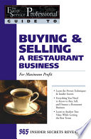 Buying   Selling a Restaurant Business  for Maximum Profit