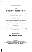 The forty thieves: a grand romantic drama, by R.B. Sheridan and Colman the younger. Duncombe's ed