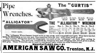 [1895 Advertisement for American Saw Company]