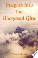 Insights into The Bhagavad Gita Book