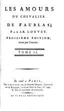 Une année de la vie du chevalier de Faublas [cont'd] ; Six semaines de la vie du chevalier de Faublas