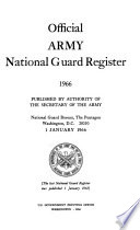 Official Army National Guard Register