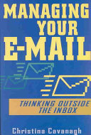 Cover of Managing Your E-Mail