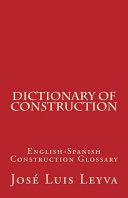 Dictionary of Construction