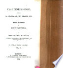 Claudine Mignot. surnamed La l'Hauda, or, The Praised One. A Novel
